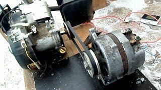 Бензогенератор 12 вольт для заряда АКБ, автогенератор + двигатель