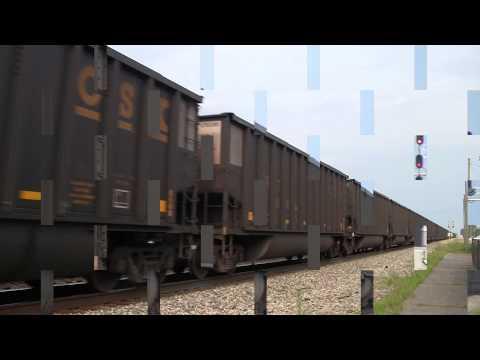 CSX Coal Train Saint Albans, WV [HD]