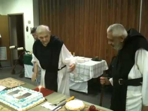 Birthday cake for Fr. Luke & Fr. Anthony