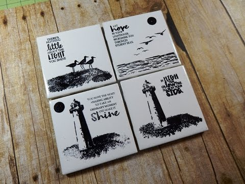 DIY Coasters With The High Tide Stamp Set