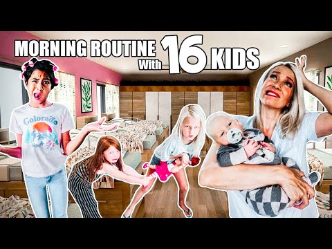 School MORNING ROUTINE with a Large Family of 18! + Giveaway!!!