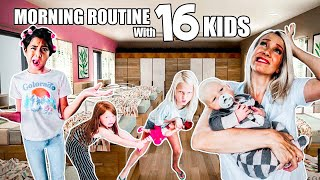 MORNING ROUTINE with 16 KiDS!!
