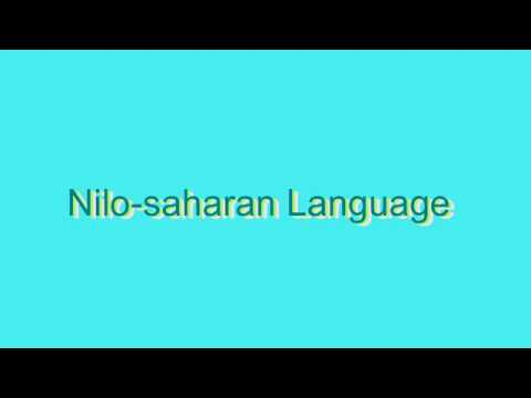 How to Pronounce Nilo-saharan Language