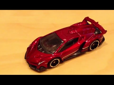 hot wheels lamborghini veneno red version youtube. Black Bedroom Furniture Sets. Home Design Ideas