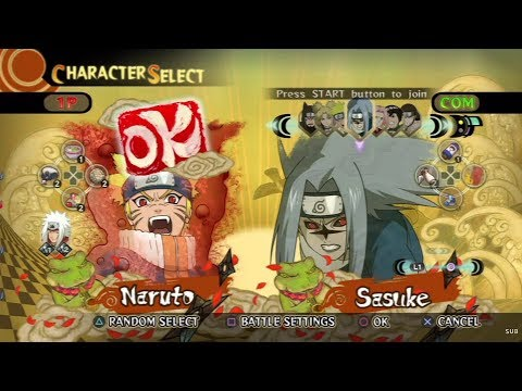 Naruto: Ultimate Ninja Storm All Characters [PS3]