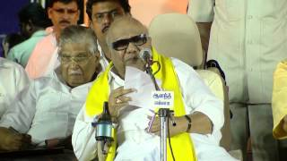 DMK Chief karunanidhi 92nd Birthday -Karunanidhi As Usual Hints at Stalin Succeeding Him