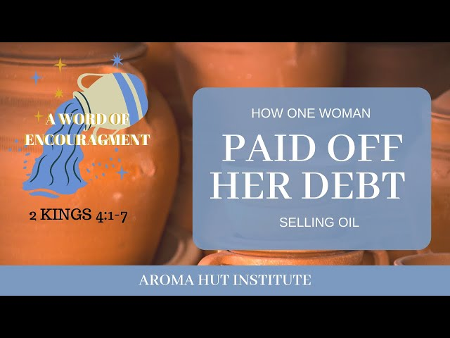 A Woman Who Paid Off Her Debt Selling Essential Oil