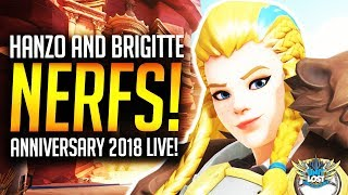 Overwatch - HUGE Ana Buff! / Hanzo and Brigitte NERFS! (Anniversary 2018)