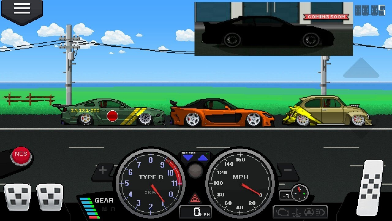 Pixel Car Racer Update New Cars 6 1 Second Tune Also Veliside Rx7