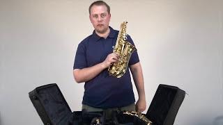 Обзор саксофонов Yamaha YAS-280 и YAS-480. Комплектация, конструктивные различия.