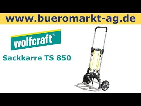 Bevorzugt Wolfcraft Sackkarre TS 850, 5501000, klappbar, Vollgummireifen ZF54