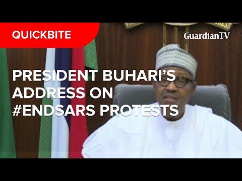 President Buhari's address on the #EndSARS protests