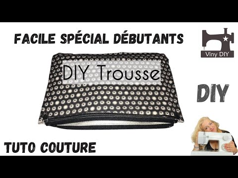 tuto couture trousse fermeture doubl e simple d butante youtube. Black Bedroom Furniture Sets. Home Design Ideas