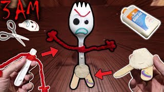 DO NOT MAKE YOUR OWN FORKY TOY AT 3 AM!! (IT CAME TO LIFE!!)