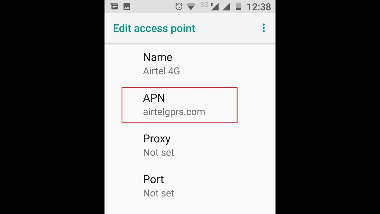 Airtel 4G APN Settings for Android - 4G LTE APN India