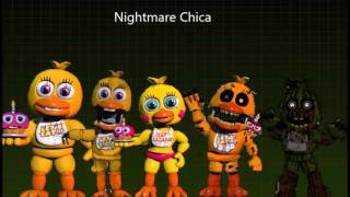 II FNAF SONG II All Adventure Chica,s Voices
