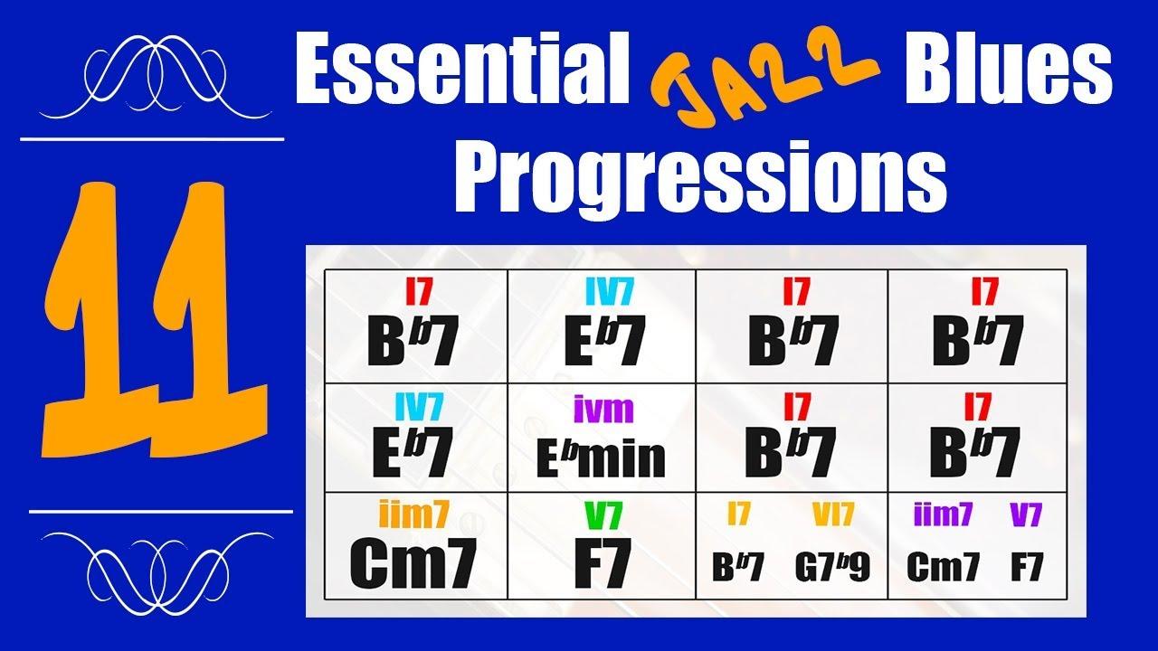11 Jazz Blues Chord Progressions - Tutorial