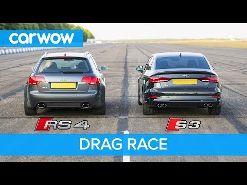 Audi S3 vs RS4 B7 - DRAG & ROLLING RACE! Can a 2.0 Turbo Auto beat a 4.2 V8 Manual from 2008?