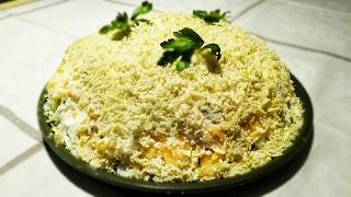 Как приготовить крабовый салат | Крабовый салат | Слоеный салат с крабовыми палочками | Салат