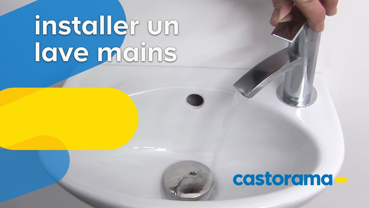 Hauteur Evacuation Wc Suspendu installer un lave mains (castorama)
