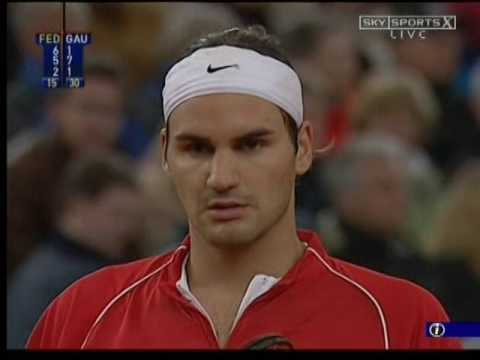 Hamburg 2004 R1 - Federer vs Gaudio (Part 4)