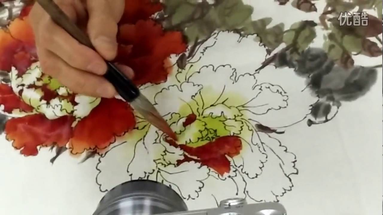 peony flowers painting in chinese watercolor brushes youtube