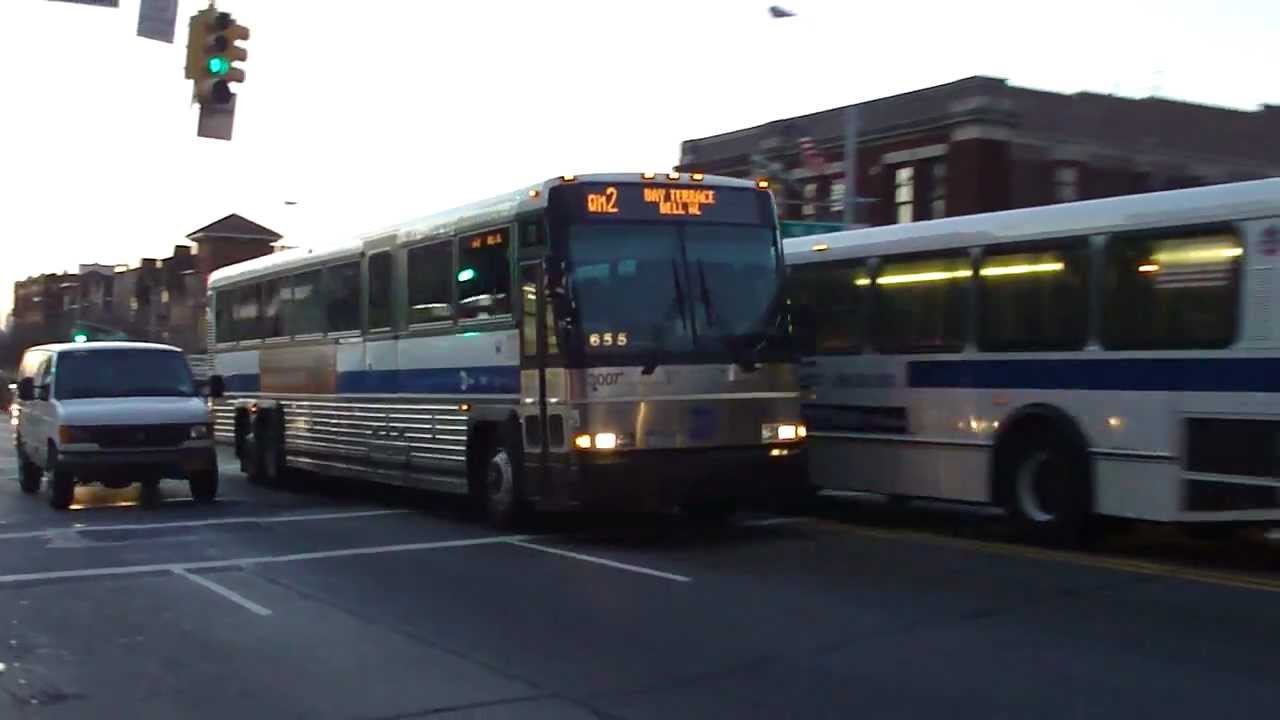 mta bus: 2004 mci d4500cl qm2 express bus #3007 at 82nd st-northern