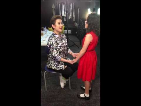 Ms Lea Salonga with Krystal Brimner