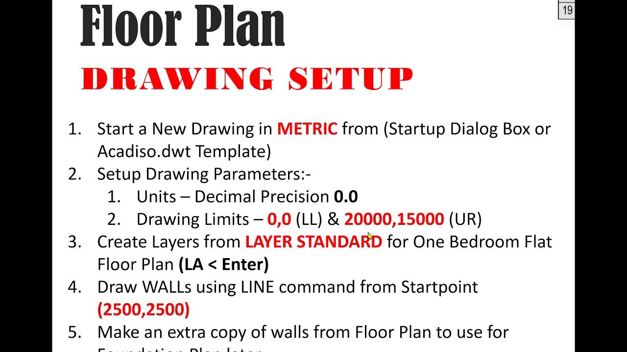 Creating One Bedroom Flat Floor Plan Pt 1 Youtube