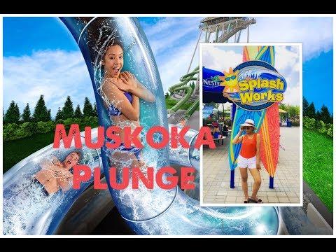 Going on Muskoka Plunge at Splashworks Wonderland