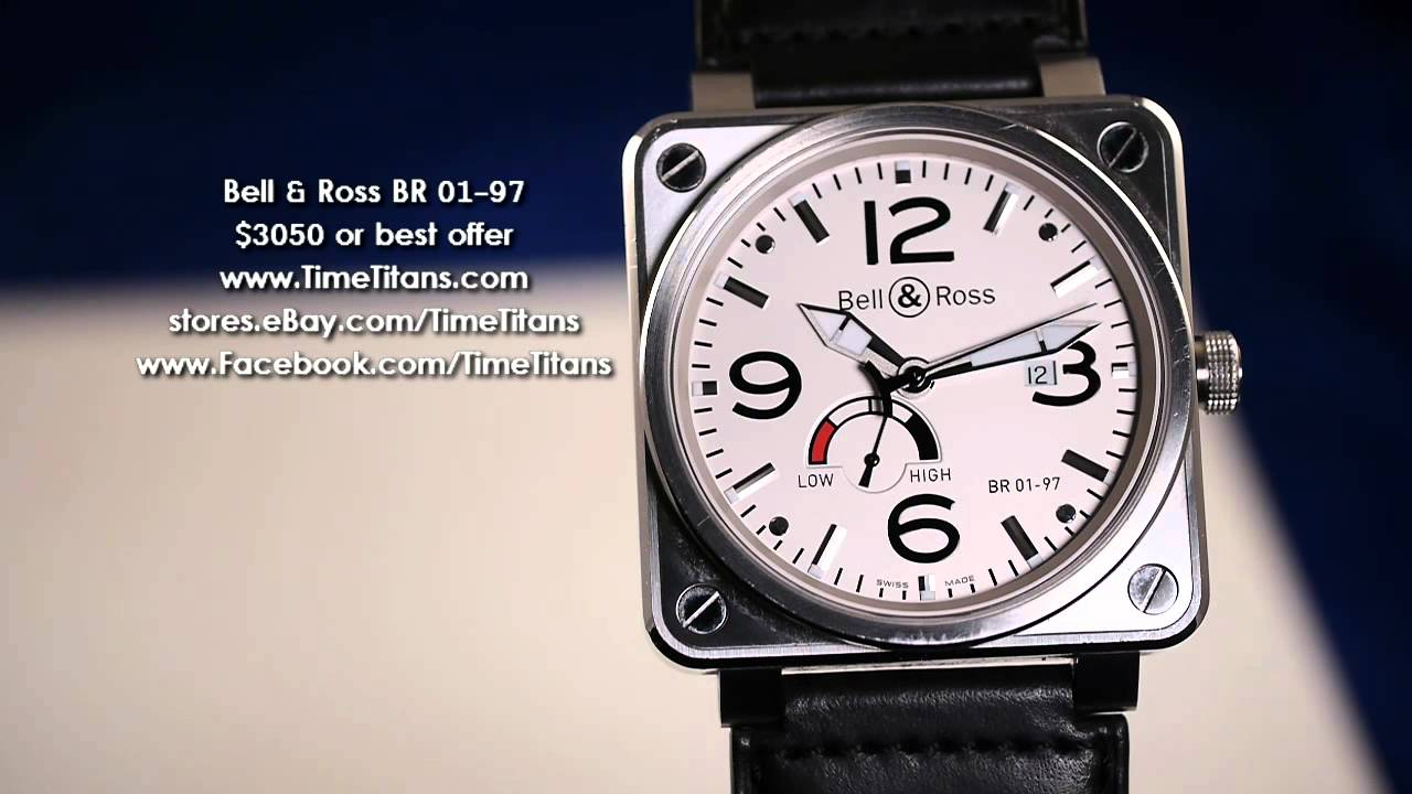 brand new 760af 96641 Bell & Ross BR 01-97 Power Reserve White 46mm