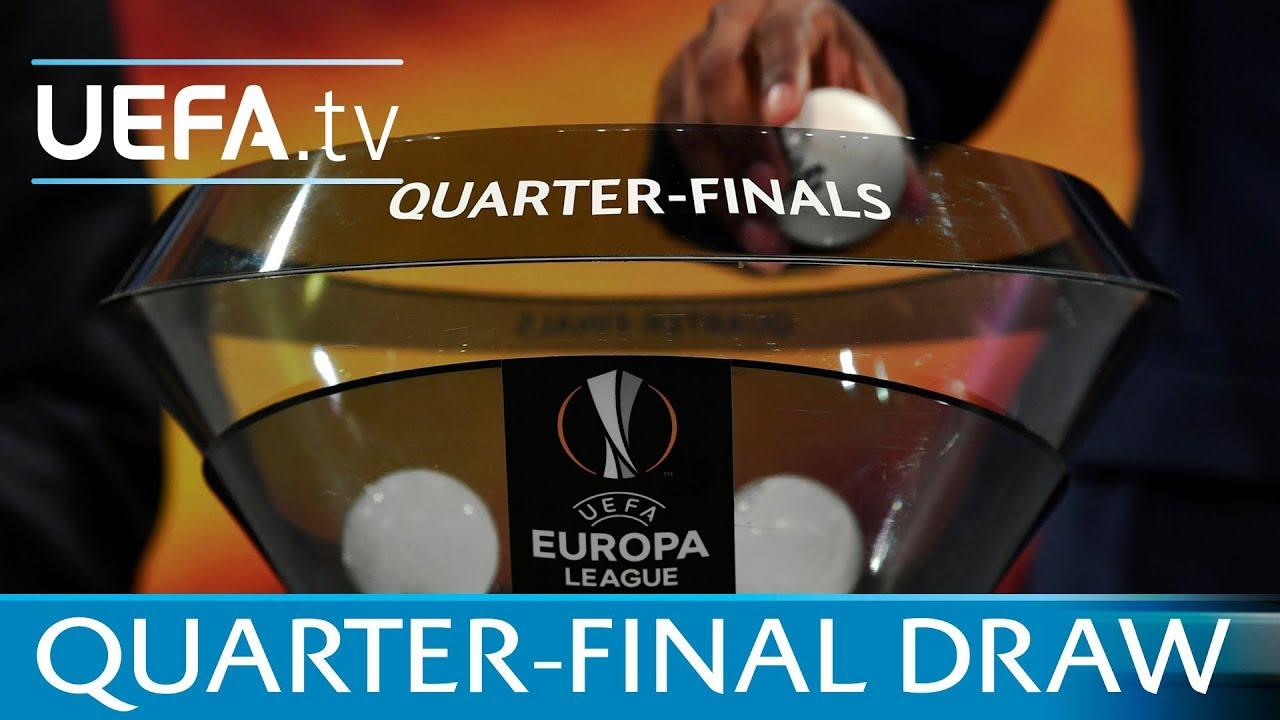 Uefa Europa League 2017 18 Quarter Final Draw Youtube