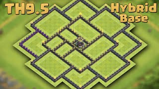 Clash of Clans | Town Hall 9.5 (TH9.5)Hybrid Base 2016 [DE Protection] - (With Extra Walls & Traps)