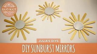 Diy Sunburst Mirror - Hgtv Handmade