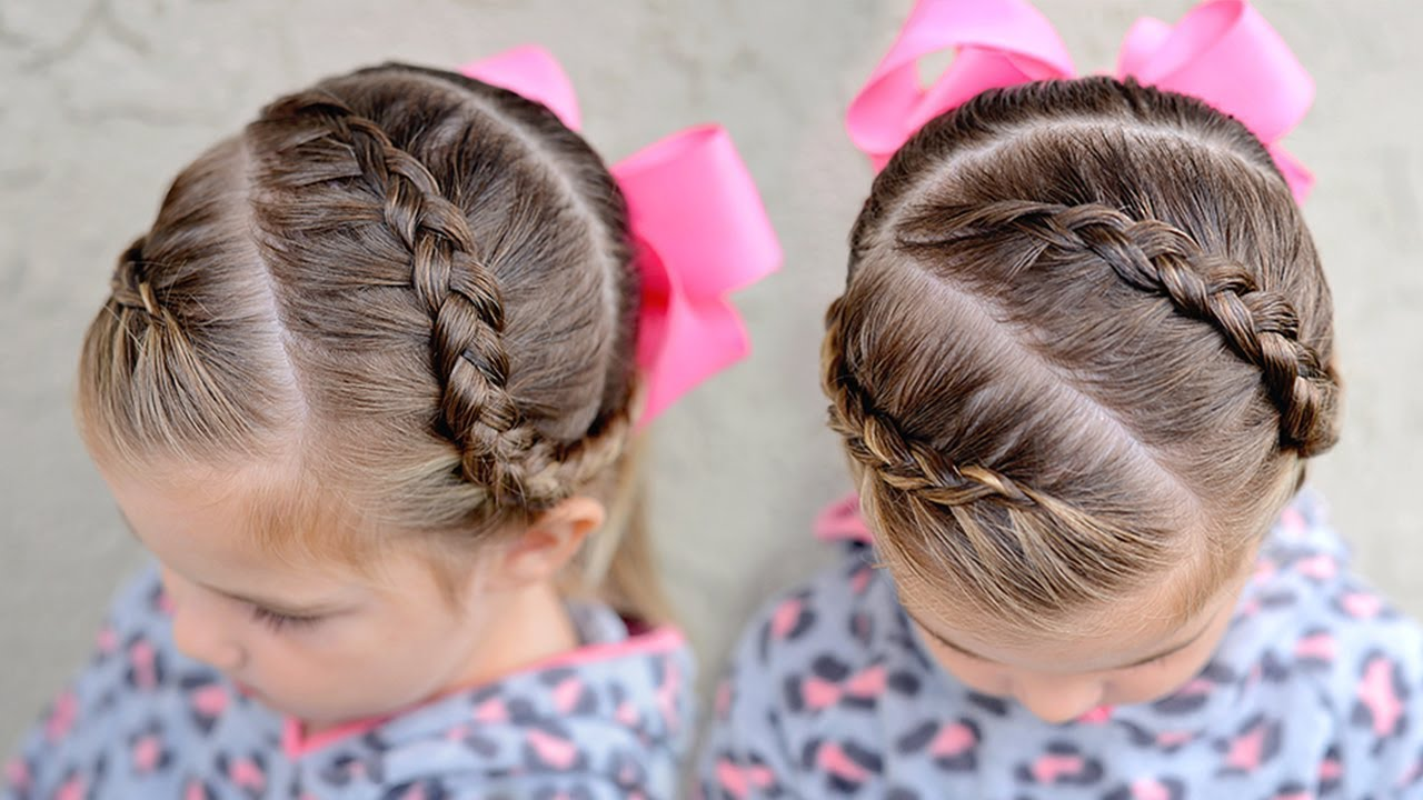 dutch braid ponytail - toddler hairstyles