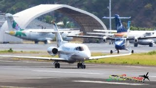Early Morning Rush Hour !!! Prop and Business Jet Action @ St. Kitts (HD 1080p)
