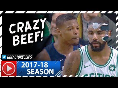 Masked Kyrie Irving vs Dennis Smith Jr. Duel Highlights (2017.12.06) Celtics vs Mavs - CRAZY BEEF!