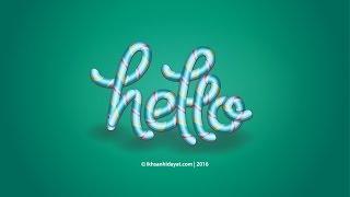 Typography Lolypop Style - Illustrator Tutorials