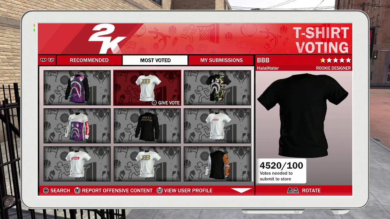 5f3b2711b NBA 2k18| How to create a Custom T-shirt in the playground - YouTube