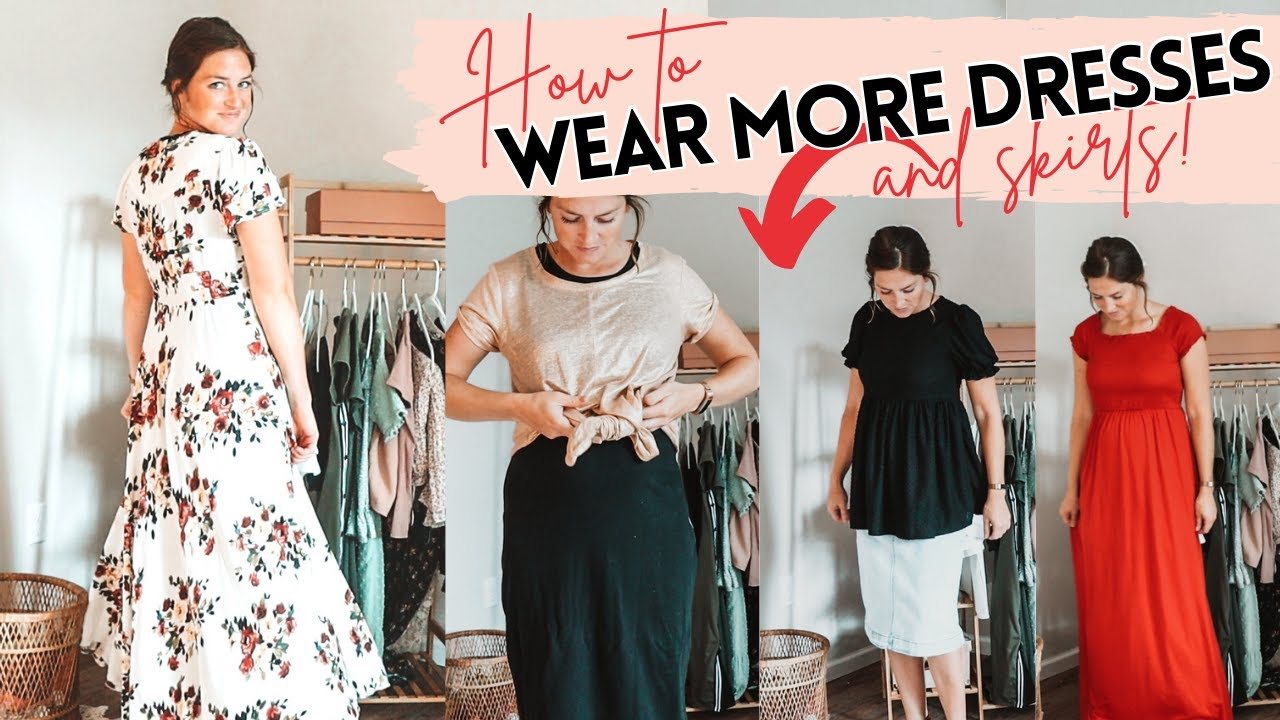 Modest Outfits: Simple tips to wear dresses and skirts more! | Modest Try-on