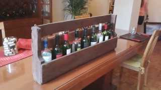 RECYCLED PALLET WINE RACK, BOOK/MAGAZINE RACK. EASY DIY PROJECT
