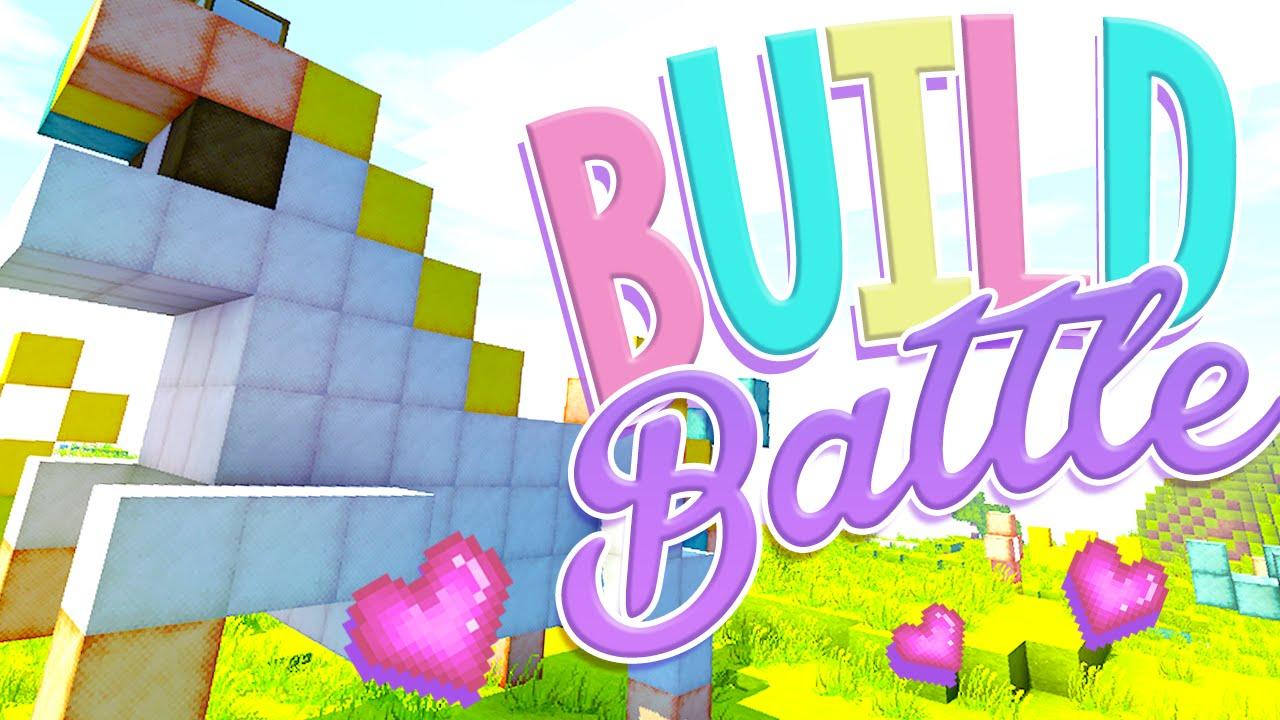 Minecraft Build Battle - Pastel Unicorn - YouTube