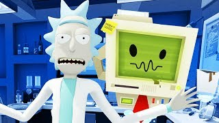 JOB BOT and Rick?!? - Rick and Morty: Virtual Rick-ality Gameplay - VR HTC Vive