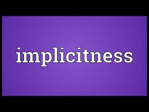 Header of implicitness