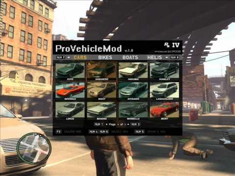 Provehicle Mod  Gta IV Spawn Vehicle Tool Script  Mod !