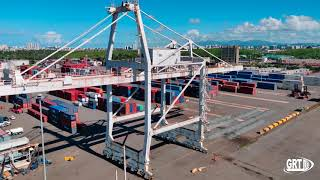GRT 180ft Ship to Shore Crane Demolition - San Juan - Puerto Rico - Reverse angle