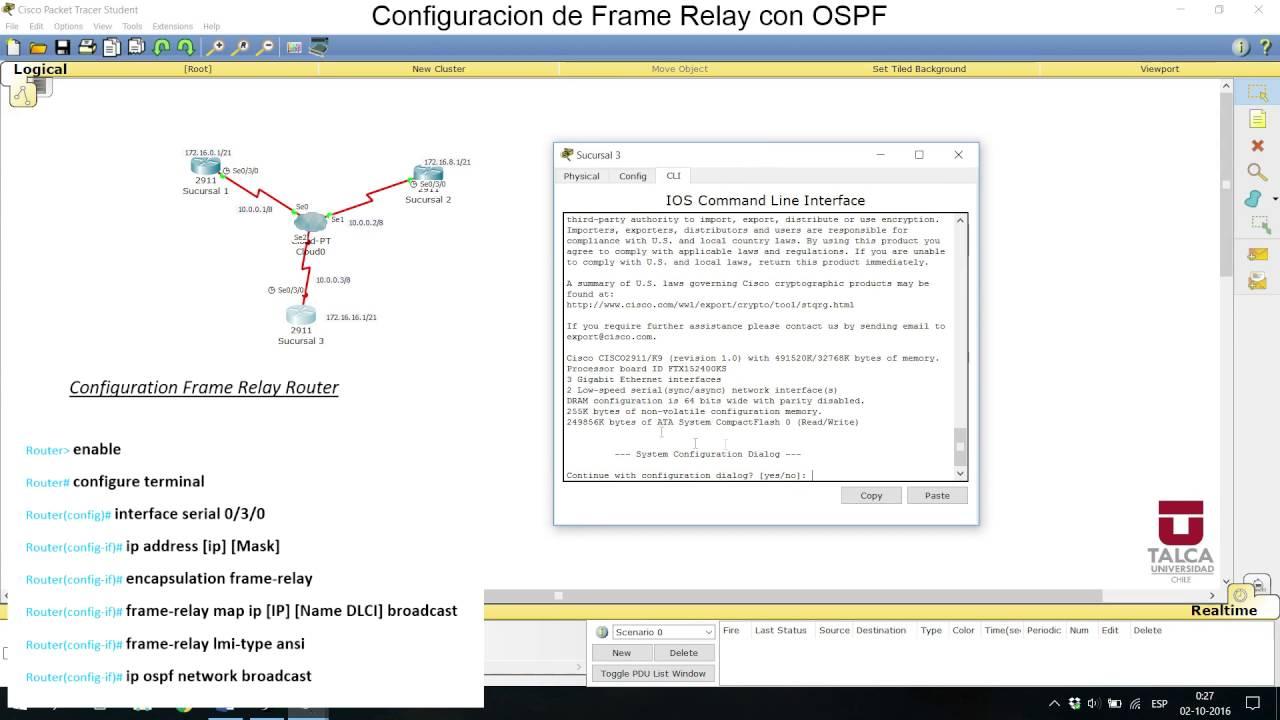 Configuracion Frame relay con ospf Packet tracer - YouTube