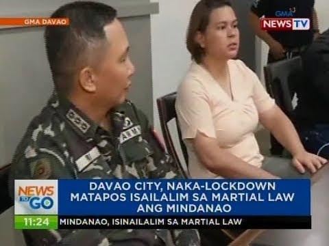 NTG: Davao city, naka-lockdown matapos isailalim sa Martial law ang Mindanao