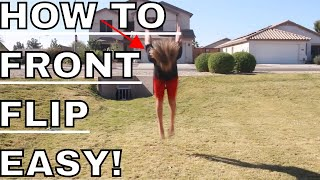 How To Do A Fronтflip On Ground For Beginners