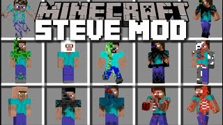 Minecraft CORRUPTED STEVE MOD / FIGHT EVIL STEVE MOBS AND SURVIVE!! Minecraft